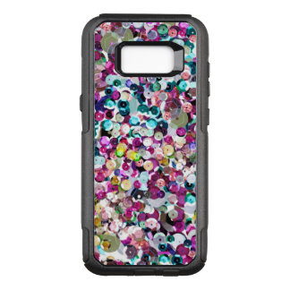 Funda Commuter De OtterBox Para Samsung Galaxy S8+ Falsas lentejuelas Bling del arco iris femenino