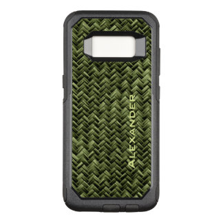 Funda Commuter De OtterBox Para Samsung Galaxy S8 : Falso modelo de armadura de cesta del verde