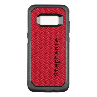 Funda Commuter De OtterBox Para Samsung Galaxy S8 : Falso modelo de armadura de cesta rojo