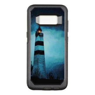 Funda Commuter De OtterBox Para Samsung Galaxy S8 Faro con la luz por noche en lluvia de colada