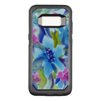 Funda Commuter De OtterBox Para Samsung Galaxy S8 Flores de moda azules y púrpuras de las acuarelas
