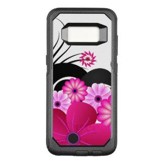 Funda Commuter De OtterBox Para Samsung Galaxy S8 Flores florales rosadas magentas fucsias elegantes