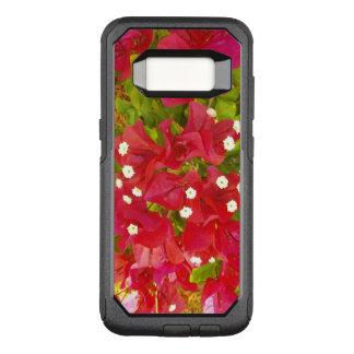 Funda Commuter De OtterBox Para Samsung Galaxy S8 Flores rojas del Bougainvillea