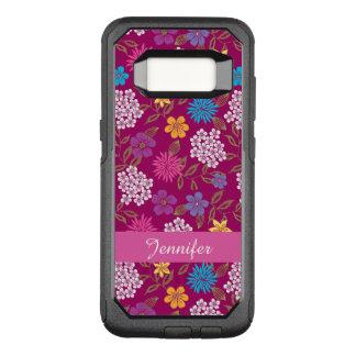 Funda Commuter De OtterBox Para Samsung Galaxy S8 Flores salvajes femeninas de la primavera y del