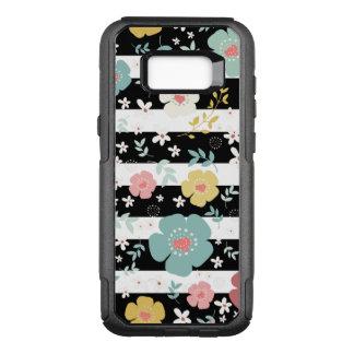 Funda Commuter De OtterBox Para Samsung Galaxy S8+ Flores y rayas del color en colores pastel en