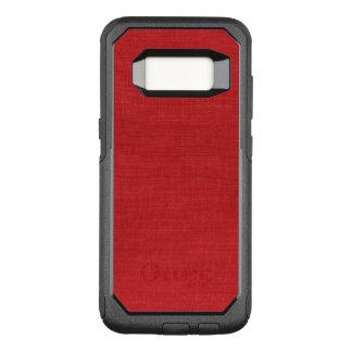 Funda Commuter De OtterBox Para Samsung Galaxy S8 Fondo de lino rojo de la foto del primer
