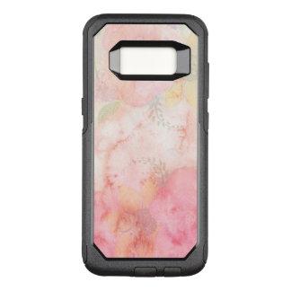 Funda Commuter De OtterBox Para Samsung Galaxy S8 Fondo floral rosado de la acuarela