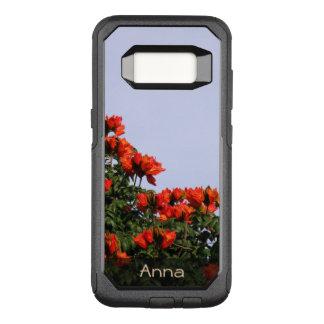 Funda Commuter De OtterBox Para Samsung Galaxy S8 Foto africana botánica del árbol de tulipán