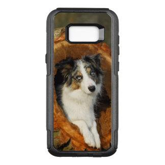 Funda Commuter De OtterBox Para Samsung Galaxy S8+ Foto azul del perro de Merle del border collie -