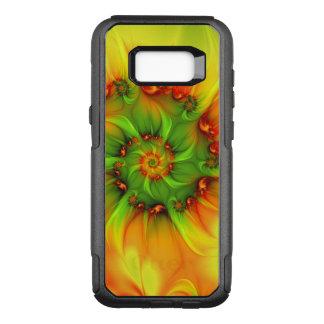 Funda Commuter De OtterBox Para Samsung Galaxy S8+ Fractal colorido abstracto anaranjado del verde