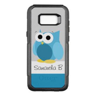 Funda Commuter De OtterBox Para Samsung Galaxy S8+ Galaxia personalizada búho azul divertido S8 de
