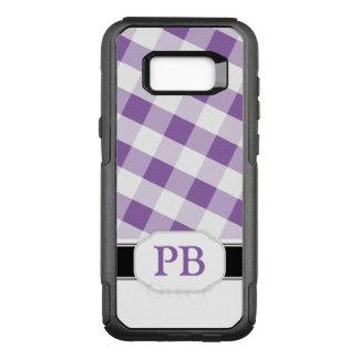 Funda Commuter De OtterBox Para Samsung Galaxy S8+ Galaxia púrpura S8 de Samsung del monograma de la