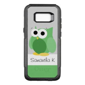Funda Commuter De OtterBox Para Samsung Galaxy S8+ Galaxia verde divertida S8 de Samsung del búho