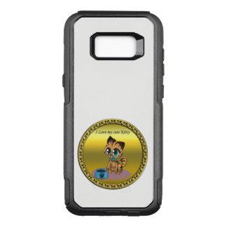 Funda Commuter De OtterBox Para Samsung Galaxy S8+ Gatito lindo mullido juguetón del oro con los ojos