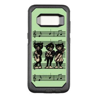 Funda Commuter De OtterBox Para Samsung Galaxy S8 Gatos negros musicales del vintage fresco en notas
