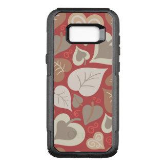Funda Commuter De OtterBox Para Samsung Galaxy S8+ hojas rojas hermosas de los corazones del amor