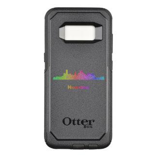 Funda Commuter De OtterBox Para Samsung Galaxy S8 Horizonte de Houston del arco iris