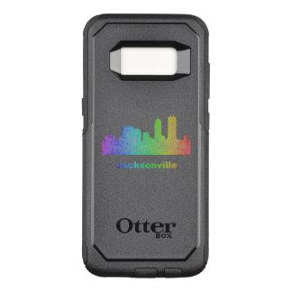 Funda Commuter De OtterBox Para Samsung Galaxy S8 Horizonte de Jacksonville del arco iris