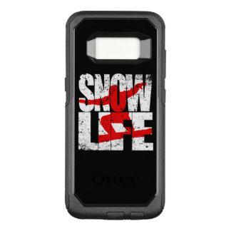Funda Commuter De OtterBox Para Samsung Galaxy S8 Huésped rojo de la VIDA de la NIEVE (blanco)