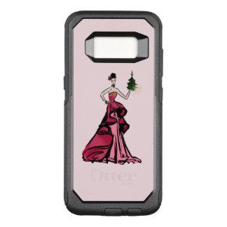 Funda Commuter De OtterBox Para Samsung Galaxy S8 Ilustracion de la moda del navidad con el árbol