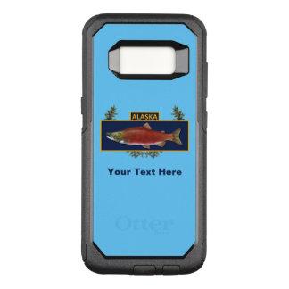 Funda Commuter De OtterBox Para Samsung Galaxy S8 Insignia del pescador del combate de Alaska