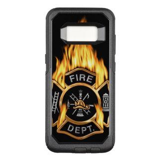 Funda Commuter De OtterBox Para Samsung Galaxy S8 Insignia llameante del cuerpo de bomberos del oro