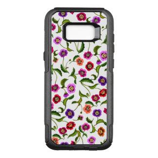 Funda Commuter De OtterBox Para Samsung Galaxy S8+ La amapola colorida florece la caja de la galaxia