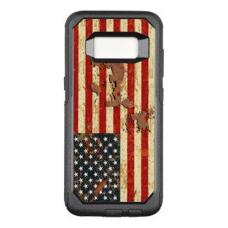 Funda Commuter De OtterBox Para Samsung Galaxy S8 La antigüedad aherrumbró la bandera americana los