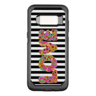 Funda Commuter De OtterBox Para Samsung Galaxy S8 La flor psicodélica del amor pone letras al fondo