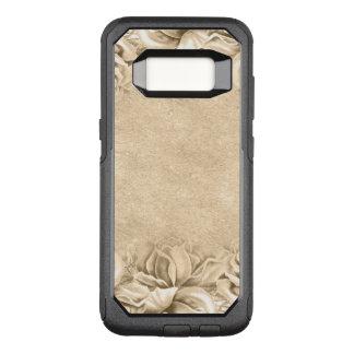 Funda Commuter De OtterBox Para Samsung Galaxy S8 La tierra beige de Ecru de los rosas del vintage