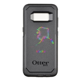 Funda Commuter De OtterBox Para Samsung Galaxy S8 Mapa de Alaska del arco iris