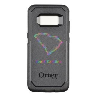 Funda Commuter De OtterBox Para Samsung Galaxy S8 Mapa de Carolina del Sur del arco iris