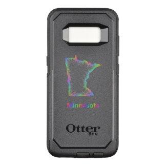 Funda Commuter De OtterBox Para Samsung Galaxy S8 Mapa de Minnesota del arco iris
