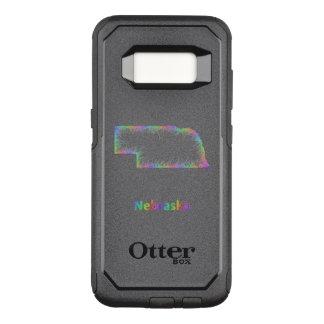 Funda Commuter De OtterBox Para Samsung Galaxy S8 Mapa de Nebraska del arco iris