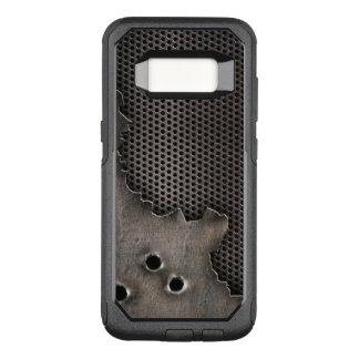 Funda Commuter De OtterBox Para Samsung Galaxy S8 Metal con el fondo de los agujeros de bala