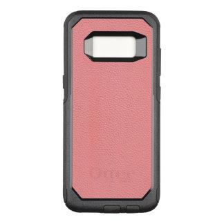 Funda Commuter De OtterBox Para Samsung Galaxy S8 Mirada de cuero rosada rayada del grano