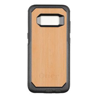 Funda Commuter De OtterBox Para Samsung Galaxy S8 Mirada de madera de bambú del grano del melocotón