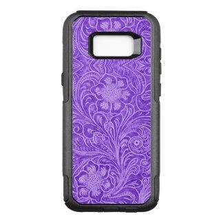 Funda Commuter De OtterBox Para Samsung Galaxy S8+ Mirada púrpura del ante del estampado de flores