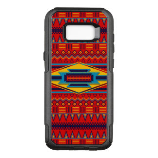 Funda Commuter De OtterBox Para Samsung Galaxy S8+ Modelo africano rojo hermoso de la materia textil