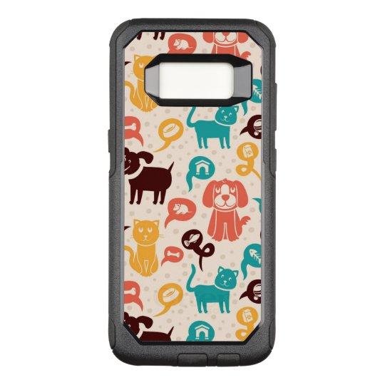 Funda Commuter De OtterBox Para Samsung Galaxy S8 Modelo con los gatos y los perros divertidos