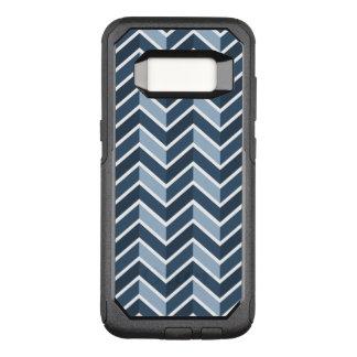 Funda Commuter De OtterBox Para Samsung Galaxy S8 Modelo de Chevron de los azules marinos