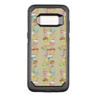 Funda Commuter De OtterBox Para Samsung Galaxy S8 Modelo de la acuarela con los dulces