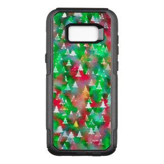 Funda Commuter De OtterBox Para Samsung Galaxy S8+ Modelo de la acuarela del árbol de navidad