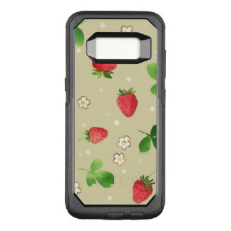 Funda Commuter De OtterBox Para Samsung Galaxy S8 Modelo de las fresas de la acuarela