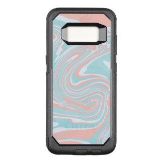 Funda Commuter De OtterBox Para Samsung Galaxy S8 Modelo de mármol colorido