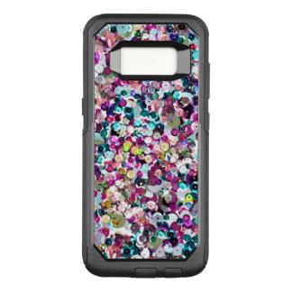 Funda Commuter De OtterBox Para Samsung Galaxy S8 Modelo de moda de la lentejuela del arco iris