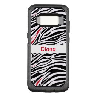 Funda Commuter De OtterBox Para Samsung Galaxy S8 Modelo del animal del monograma de la cebra