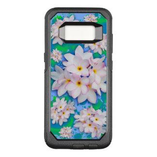 Funda Commuter De OtterBox Para Samsung Galaxy S8 Modelo exótico del verano del ramo del Plumeria