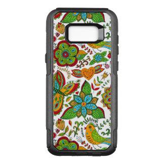 Funda Commuter De OtterBox Para Samsung Galaxy S8+ Modelo floral retro colorido G8 del collage de