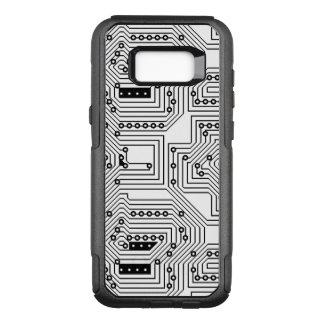 Funda Commuter De OtterBox Para Samsung Galaxy S8+ Modelo retro negro moderno de la placa de circuito